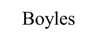 mark for BOYLES, trademark #85764583