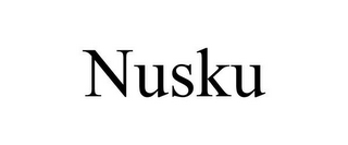 mark for NUSKU, trademark #85764702