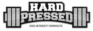 mark for HARD PRESSED HIGH INTENSITY WORKOUTS, trademark #85765101