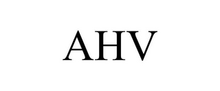 mark for AHV, trademark #85765881