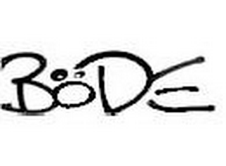 mark for BODE, trademark #85766308