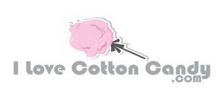 mark for I LOVE COTTON CANDY . COM, trademark #85766541
