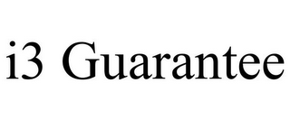 mark for I3 GUARANTEE, trademark #85767083