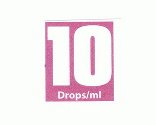 mark for 10 DROPS/ML, trademark #85767152
