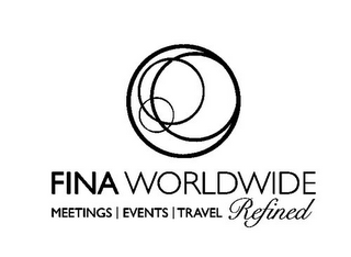 mark for FINA WORLDWIDE MEETINGS | EVENTS | TRAVEL REFINED, trademark #85767685
