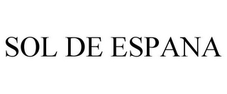 mark for SOL DE ESPANA, trademark #85767980