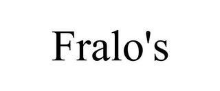 mark for FRALO'S, trademark #85768257