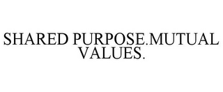 mark for SHARED PURPOSE.MUTUAL VALUES., trademark #85769083