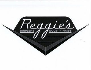 mark for REGGIE'S BURGERS DOGS FRIES, trademark #85770105