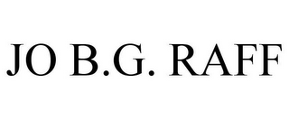 mark for JO B.G. RAFF, trademark #85771198