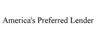 mark for AMERICA'S PREFERRED LENDER, trademark #85771292