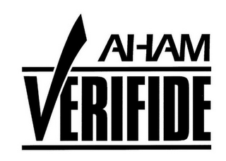 mark for AHAM VERIFIDE, trademark #85773367