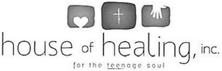 mark for HOUSE OF HEALING, INC. FOR THE TEENAGE SOUL, trademark #85773906