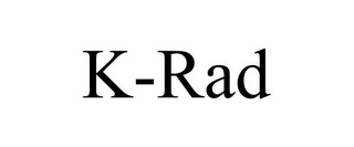 mark for K-RAD, trademark #85775288