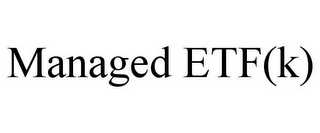 mark for MANAGED ETF(K), trademark #85775814