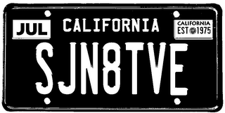 mark for SJN8TVE JUL CALIFORNIA CALIFORNIA EST 1975, trademark #85776274