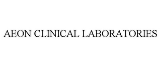 mark for AEON CLINICAL LABORATORIES, trademark #85776421