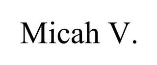 mark for MICAH V., trademark #85776919