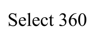 mark for SELECT 360, trademark #85777161