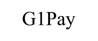 mark for G1PAY, trademark #85777904