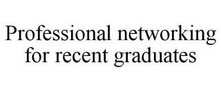mark for PROFESSIONAL NETWORKING FOR RECENT GRADUATES, trademark #85777910