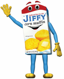 "mark for QUALITY AND VALUE SINCE 1930 ""JIFFY"" CORN MUFFIN ADD EGG AND MILK NET WT 8.5OZ (240 G) SERVING SUGGESTION, trademark #85777915"