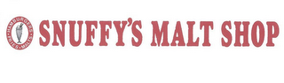 mark for SNUFFY'S MALT SHOP HAMBURGERS FRIES MALTS, trademark #85779754