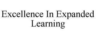 mark for EXCELLENCE IN EXPANDED LEARNING, trademark #85779961