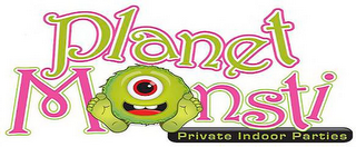 mark for PLANET MONSTI PRIVATE INDOOR PARTIES, trademark #85780070