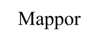 mark for MAPPOR, trademark #85780569
