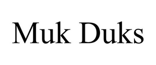 mark for MUK DUKS, trademark #85781001