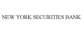 mark for NEW YORK SECURITIES BANK, trademark #85782054