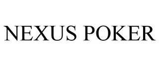 mark for NEXUS POKER, trademark #85782096