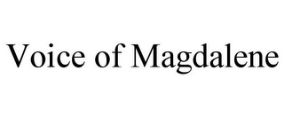 mark for VOICE OF MAGDALENE, trademark #85782125