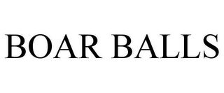 mark for BOAR BALLS, trademark #85782209