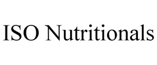 mark for ISO NUTRITIONALS, trademark #85782778