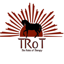 mark for TROT THE REINS OF THERAPY, trademark #85782852