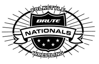 mark for BRUTE NATIONALS FOLKSTYLE WRESTLING, trademark #85783647