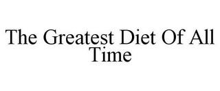 mark for THE GREATEST DIET OF ALL TIME, trademark #85783740