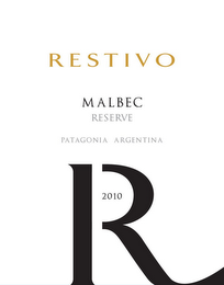 mark for R RESTIVO MALBEC RESERVE PATAGONIA ARGENTINA 2010, trademark #85783759