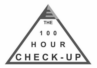 mark for THE 100 HOUR CHECK-UP, trademark #85784238