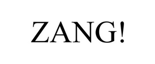 mark for ZANG!, trademark #85785164