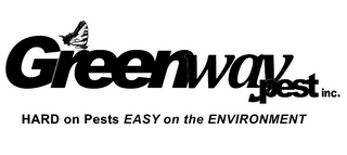 mark for GREENWAY PEST INC. HARD ON PESTS EASY ON THE ENVIRONMENT, trademark #85785676