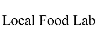 mark for LOCAL FOOD LAB, trademark #85786543