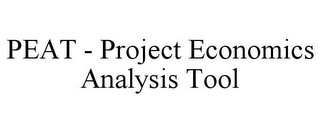 mark for PEAT - PROJECT ECONOMICS ANALYSIS TOOL, trademark #85787096