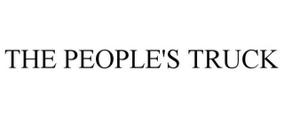 mark for THE PEOPLE'S TRUCK, trademark #85787296