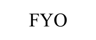 mark for FYO, trademark #85788496