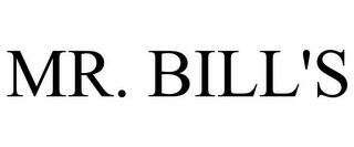 mark for MR. BILL'S, trademark #85788498
