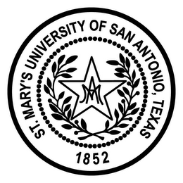 mark for MA ST. MARY'S UNIVERSITY OF SAN ANTONIOTEXAS 1852, trademark #85788578