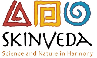 mark for SKINVEDA SCIENCE AND NATURE IN HARMONY, trademark #85788875